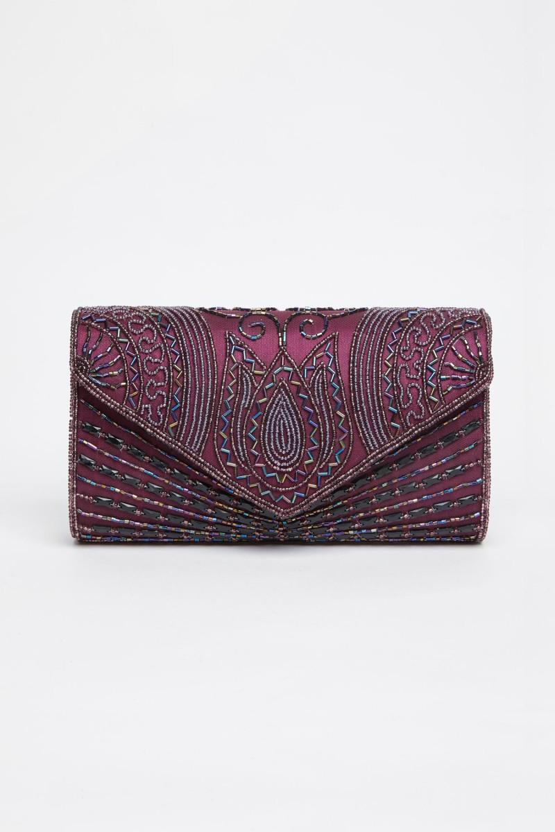 Beatrice Cam Boncuk - El İşlemeli Çanta