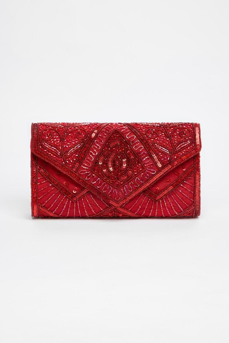 Scarlet - El İşlemeli Şık Çanta