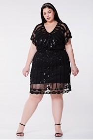 Angel Sleeve - El İşlemeli Elbise - Plus Size