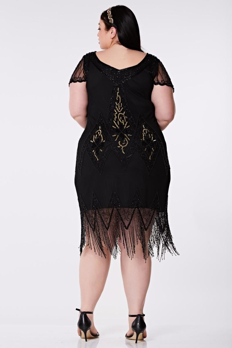 Annette - El İşlemeli, Taş Püsküllü Elbise - Plus Size