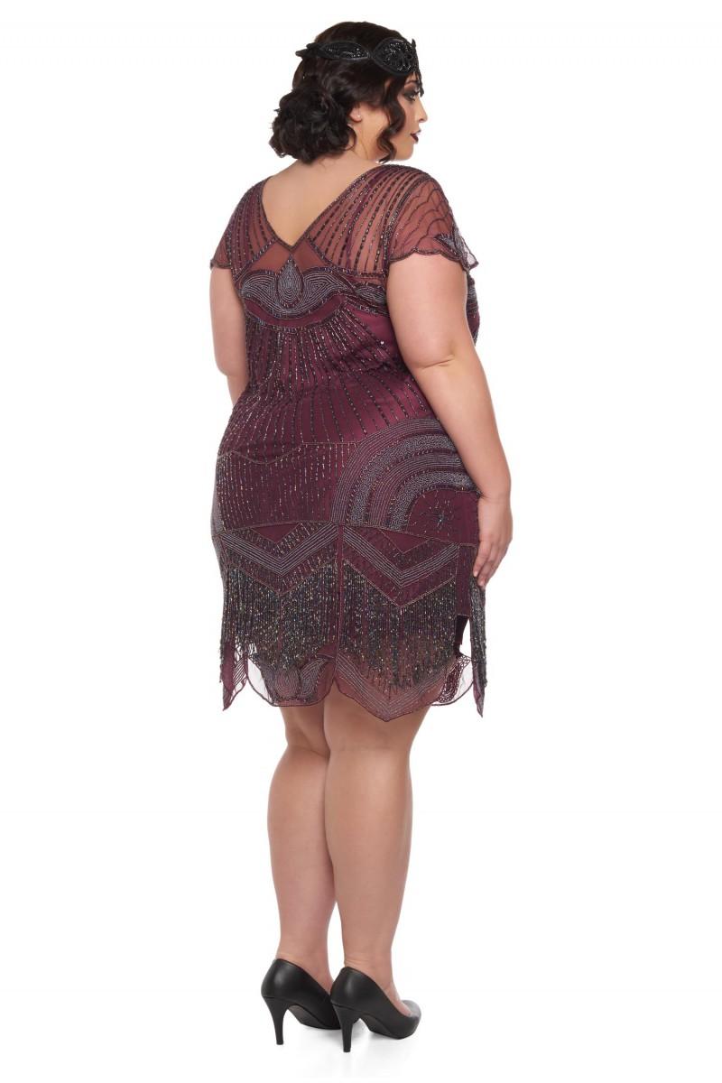 Beatrice - El İşlemeli, Taş Püsküllü Elbise - Plus Size