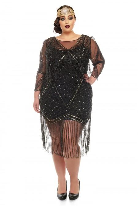 Betty - El İşlemeli, Püsküllü Elbise - Plus Size