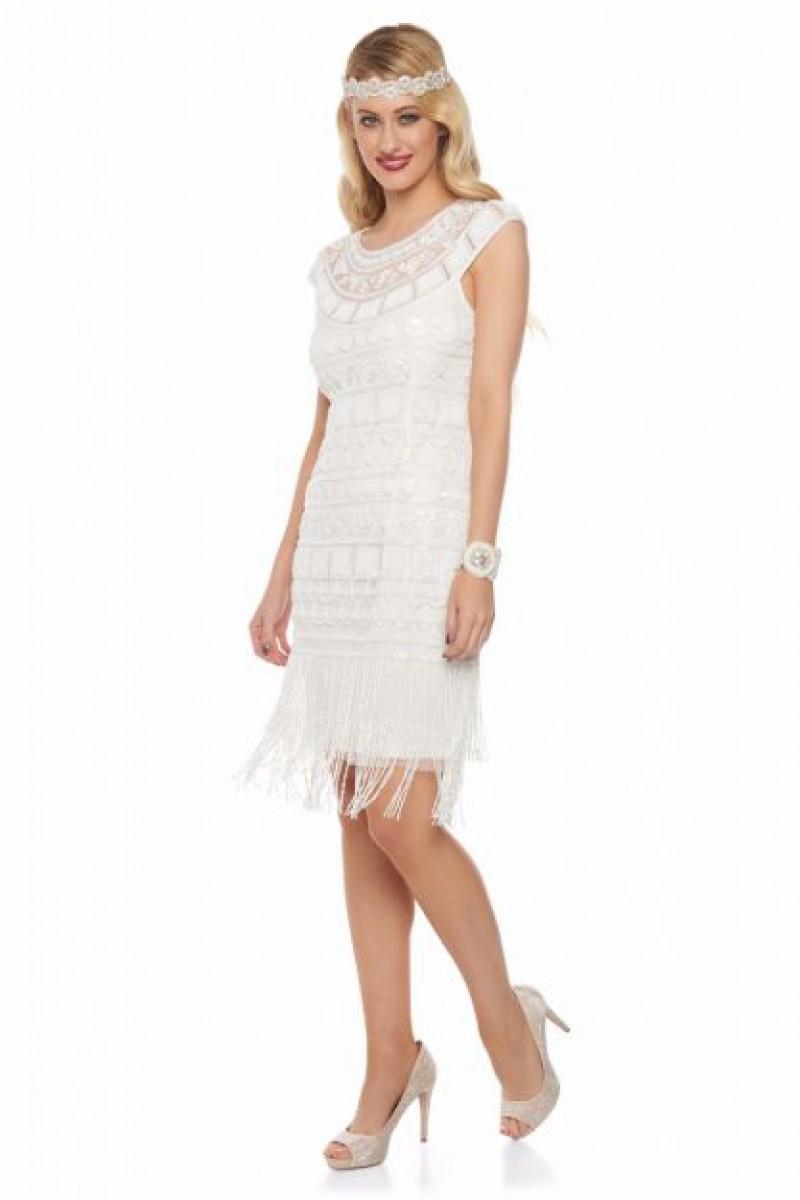 Beverley Taşel Detaylı - El İşlemeli Elbise
