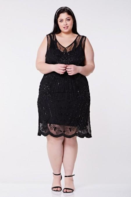 Diana - El İşlemeli Elbise - Plus Size