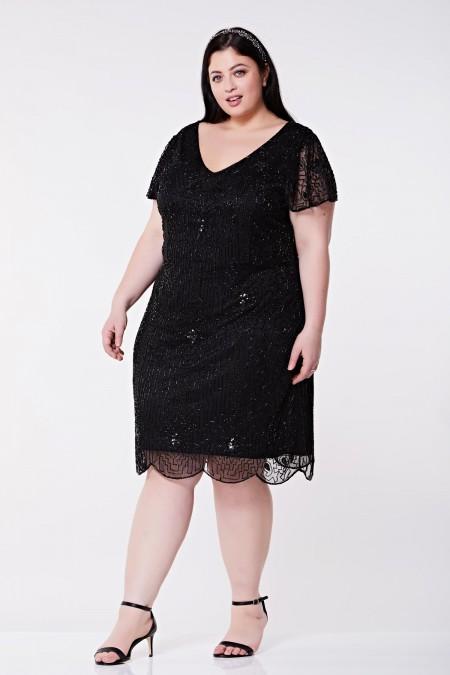 Downton Abbey - El İşlemeli Elbise - Plus Size