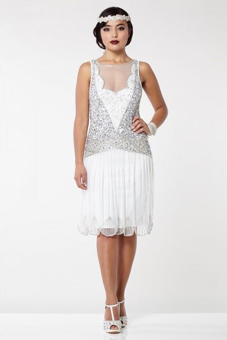 Elaina - 1920 Temalı, El İşlemeli Elbise
