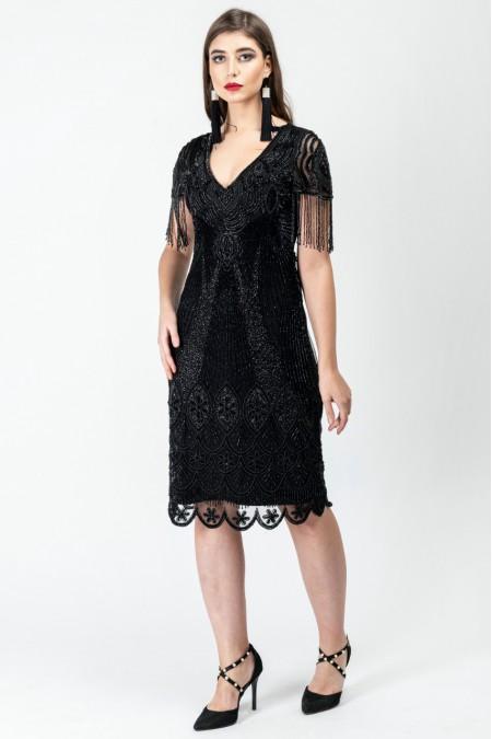 Marta - El İşlemeli , Taşel Detaylı Elbise