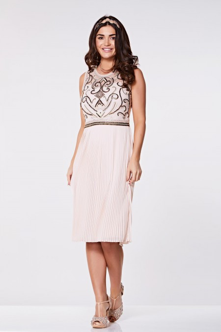 Sydney - Etekli - El İşlemeli Elbise