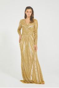 Azra - El İşlemeli , Taşel Detaylı Elbise