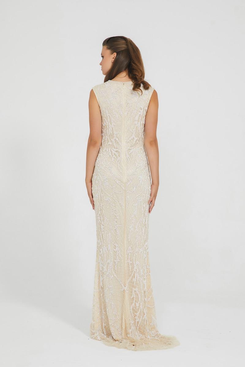 Bella - El İşlemeli, Taşel Detaylı Elbise
