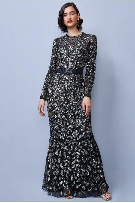 Dillan - El İşlemeli , Taş ve Pul İşlemeli Elbise