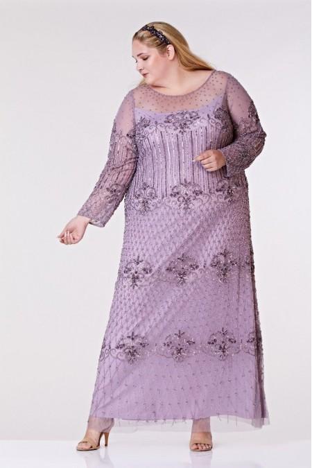 Dolores - El İşlemeli Elbise - Plus Size