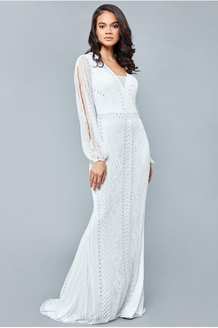 Gayle - El İşlemeli , Taşel Detaylı Elbise