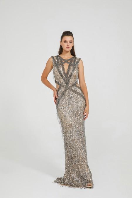 Nice - El İşlemeli, Taş Püsküllü Elbise