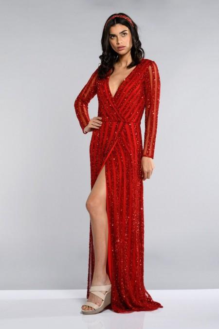 Rosie - El İşlemeli , Uzun Kollu Elbise