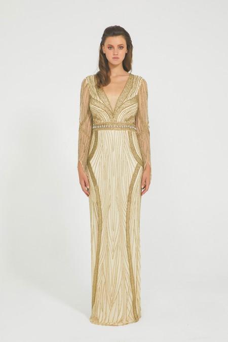 Venice - El İşlemeli, Taşel Detaylı Elbise